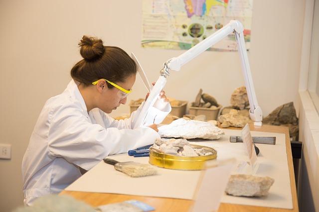 lady doing laboratory work